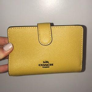 Coach Mustard Yellow Small Wallet *Brand New*